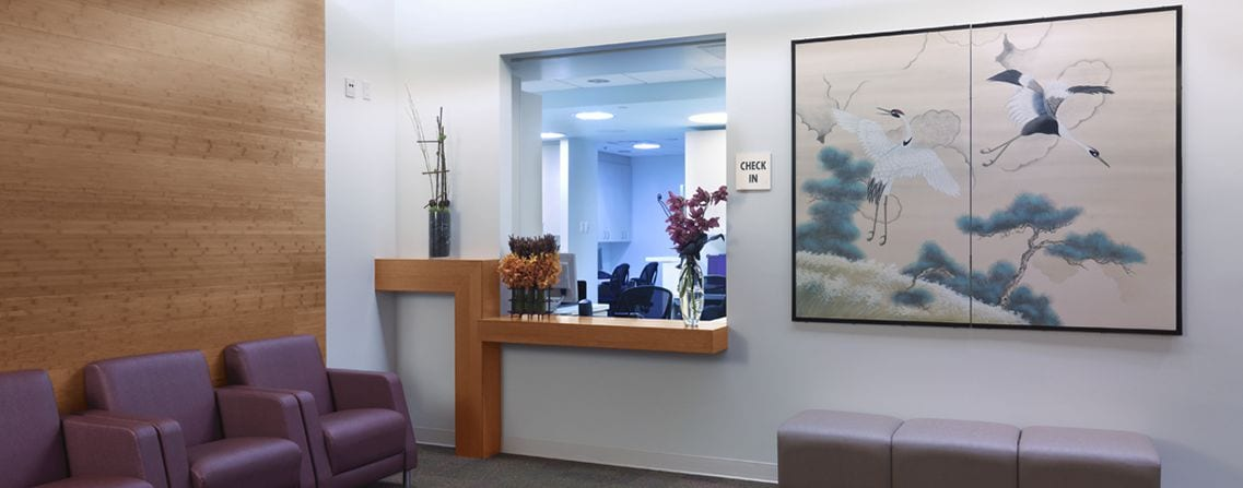 Dr. Hung's Office Reception Desk
