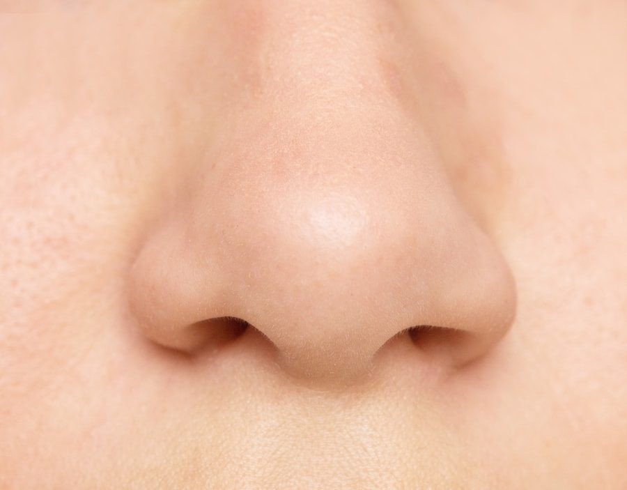 Close up image of a nose